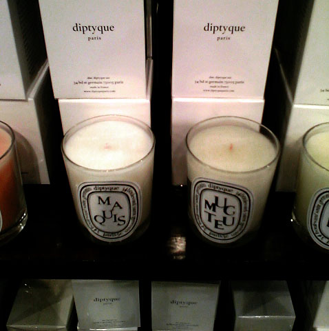 Part of a HUGE Diptyque Candle Display