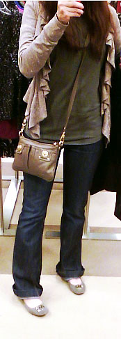 Outfit Of The Day- Top & Jeans-Gap, Cardigan- INC International Concepts-Macys, Shoes- Michael Kors, Purse- Marc By Marc Jacobs, Hair- In Need Of A Color Refresher