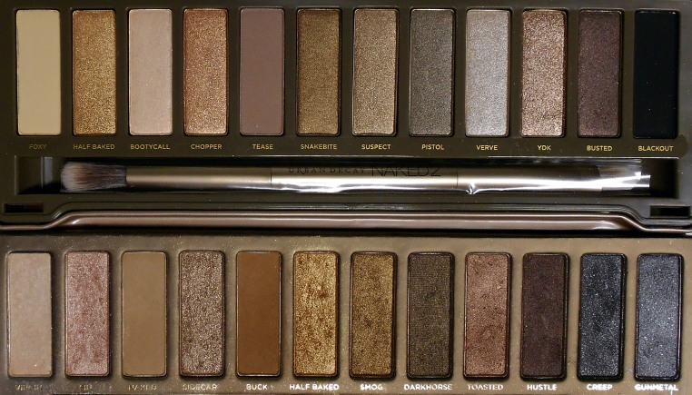 On the top, palette #2 which is cooler toned than palette #1 which is on the bottom