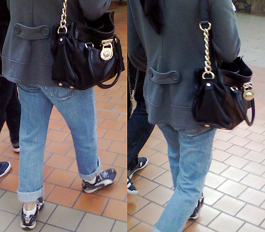 Girl with Michael Kors bag